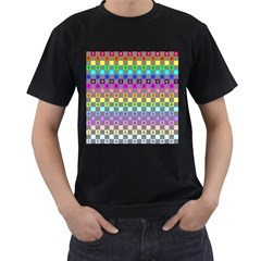 Test Number Color Rainbow Men s T-Shirt (Black)