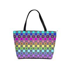 Test Number Color Rainbow Shoulder Handbags