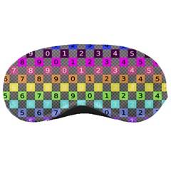 Test Number Color Rainbow Sleeping Masks