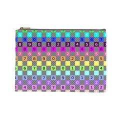 Test Number Color Rainbow Cosmetic Bag (Large)