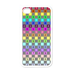 Test Number Color Rainbow Apple iPhone 4 Case (White)