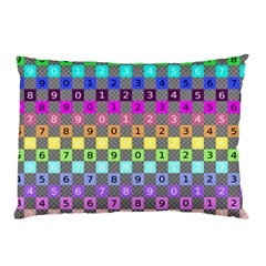 Test Number Color Rainbow Pillow Case (Two Sides)