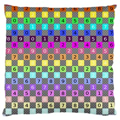 Test Number Color Rainbow Large Cushion Case (Two Sides)