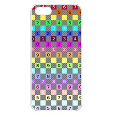 Test Number Color Rainbow Apple iPhone 5 Seamless Case (White)