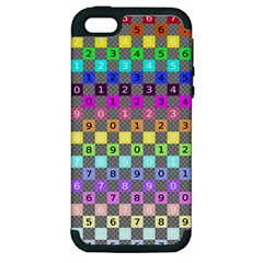 Test Number Color Rainbow Apple iPhone 5 Hardshell Case (PC+Silicone)