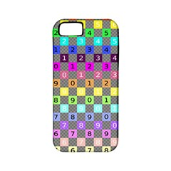 Test Number Color Rainbow Apple iPhone 5 Classic Hardshell Case (PC+Silicone)