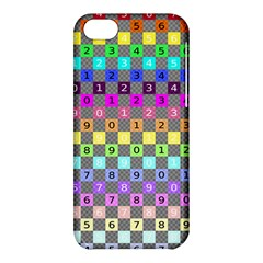 Test Number Color Rainbow Apple iPhone 5C Hardshell Case