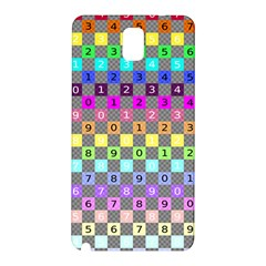 Test Number Color Rainbow Samsung Galaxy Note 3 N9005 Hardshell Back Case