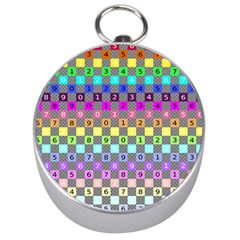 Test Number Color Rainbow Silver Compasses