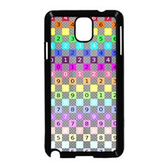 Test Number Color Rainbow Samsung Galaxy Note 3 Neo Hardshell Case (Black)