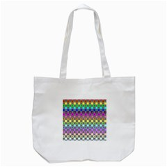 Test Number Color Rainbow Tote Bag (White)