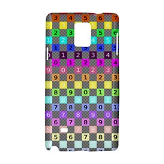 Test Number Color Rainbow Samsung Galaxy Note 4 Hardshell Case