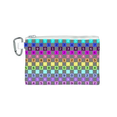 Test Number Color Rainbow Canvas Cosmetic Bag (S)