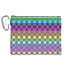 Test Number Color Rainbow Canvas Cosmetic Bag (XL)