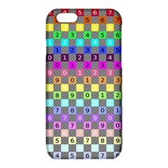 Test Number Color Rainbow iPhone 6/6S TPU Case