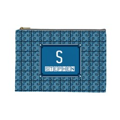 S for Stephen Cosmetic Bag (Large)