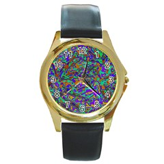 We Need More Colors 35a Round Gold Metal Watch