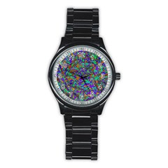 We Need More Colors 35a Stainless Steel Round Watch