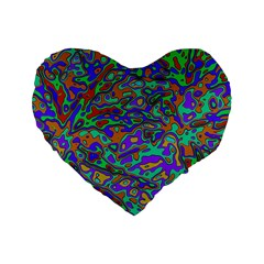 We Need More Colors 35a Standard 16  Premium Flano Heart Shape Cushions