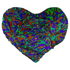 We Need More Colors 35a Large 19  Premium Flano Heart Shape Cushions