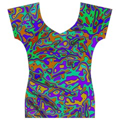 We Need More Colors 35a Women s V-Neck Cap Sleeve Top