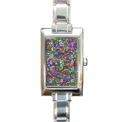 We Need More Colors 35c Rectangle Italian Charm Watch