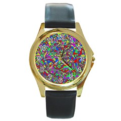 We Need More Colors 35c Round Gold Metal Watch