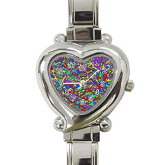 We Need More Colors 35c Heart Italian Charm Watch