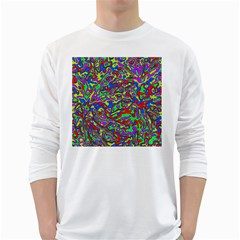 We Need More Colors 35c White Long Sleeve T-Shirts
