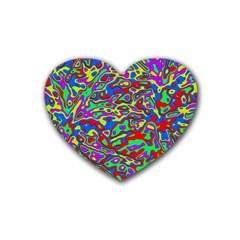 We Need More Colors 35c Rubber Coaster (Heart)