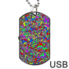 We Need More Colors 35c Dog Tag USB Flash (One Side)