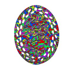 We Need More Colors 35c Oval Filigree Ornament (Two Sides)