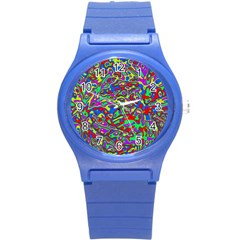 We Need More Colors 35c Round Plastic Sport Watch (S)