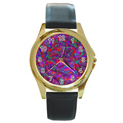 We Need More Colors 35b Round Gold Metal Watch
