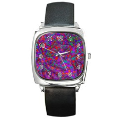 We Need More Colors 35b Square Metal Watch