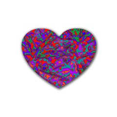 We Need More Colors 35b Rubber Coaster (Heart)