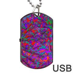 We Need More Colors 35b Dog Tag USB Flash (One Side)
