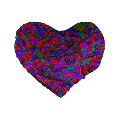 We Need More Colors 35b Standard 16  Premium Flano Heart Shape Cushions