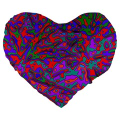 We Need More Colors 35b Large 19  Premium Flano Heart Shape Cushions