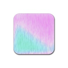 Pink green texture                                                       			Rubber Square Coaster (4 pack