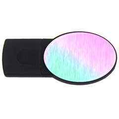 Pink green texture                                                       			USB Flash Drive Oval (1 GB)