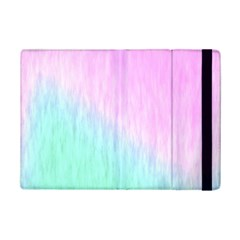 Pink green texture                                                      			Apple iPad Mini 2 Flip Case
