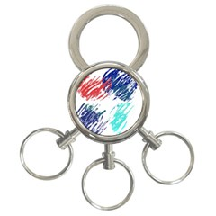 Scribbles                                                       			3-Ring Key Chain