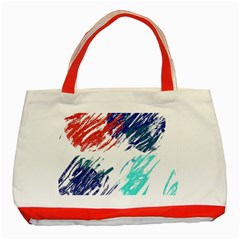Scribbles                                                       			Classic Tote Bag (Red)