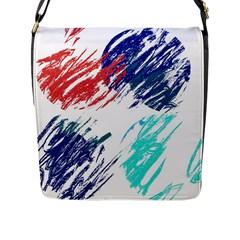 Scribbles                                                       Flap Closure Messenger Bag (L)