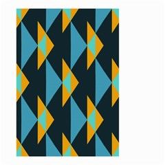 Yellow blue triangles pattern                                                        Small Garden Flag
