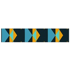 Yellow blue triangles pattern                                                        Flano Scarf