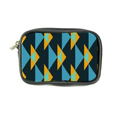 Yellow blue triangles pattern                                                        	Coin Purse