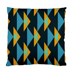 Yellow blue triangles pattern                                                        Standard Cushion Case (Two Sides)