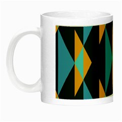 Yellow blue triangles pattern                                                        Night Luminous Mug